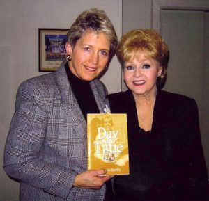 Debbie Reynolds performed at the Circle Theatre downtown and posed with me and the book.
